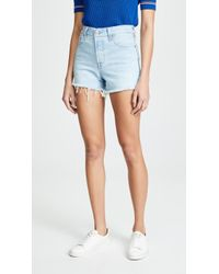 e151e93415 Free People Levi's Wedgie Selvedge Short in Blue - Lyst