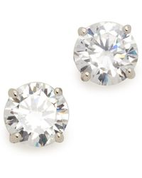 Kenneth Jay Lane - Classic Luxe Four Prong Earrings - Lyst