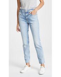 FRAME Le Sylvie Slender Straight Heritage Jeans - Blue