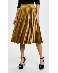 Endless Rose Pleated Velvet Skirt - Multicolour