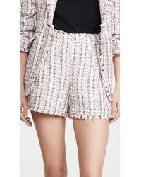 Cinq À Sept Coronado Bouclé Tweed Shorts - Multicolour