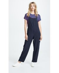 Sol Angeles Overall Romper - Blue