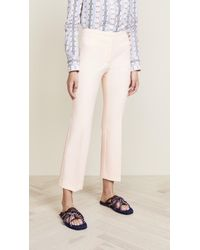 Carven - Cropped Stretch Crepe Flared Trousers - Lyst