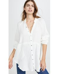 Free People Summer Daydream Button Down - White