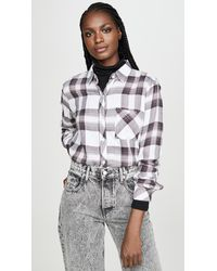 Rails Hunter Button Down - Gray