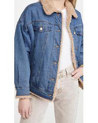 J Brand Drew Faux Sherpa Jacket - Blue