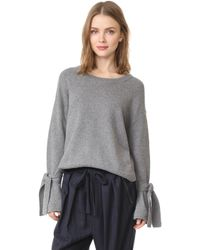 Madewell - Tie Cuff Pullover - Lyst