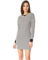 Jason Wu - Stripe Boatneck Dress With Ribbed Detail - Lyst