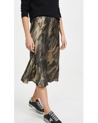 ATM Silk Camo Skirt - Green