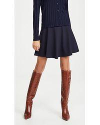 Susana Monaco High Waisted Flare Skirt - Blue