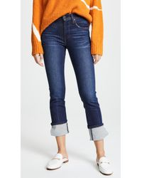 James Jeans - Highrise Ankle Straight Cuffed Jeans - Lyst