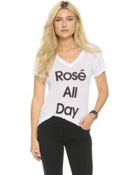 Wildfox - Rose All Day Easy Tee - Lyst