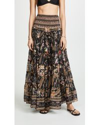 Camilla Sheer Tiered Circle Skirt - Black