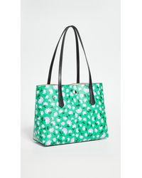 Kate Spade Molly Party Floral Large Tote - Green