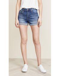 Madewell High Rise Boy Shorts - Blue