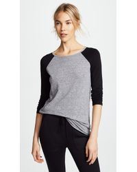 Monrow - Long Sleeve Rock Tee - Lyst