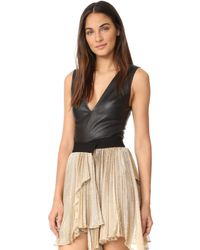 Maria Lucia Hohan - Leather Tamira Bodysuit - Lyst