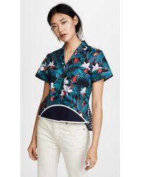 Harvey Faircloth - Short Sleeve Hawaiian Top With Belted Back - Lyst