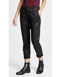 AG Jeans - The Vinte Leatherette Caden Trousers - Lyst