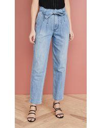 La Vie Rebecca Taylor Tie Waist Jeans - Blue