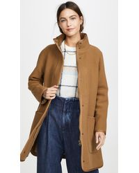Madewell Piped Wool Cocoon Coat - Multicolor