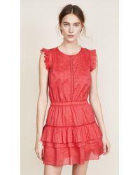 Scotch & Soda   Sleeveless Dress With Pleated Ruffle   Lyst