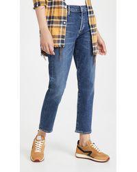 Citizens of Humanity Emerson Slim Boyfriend Distressed Jeans - Blue