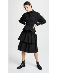 ShuShu/Tong Layered Shirt Dress - Black