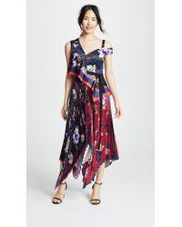 Yigal Azrouël - Pleated Handkerchief Dress - Lyst