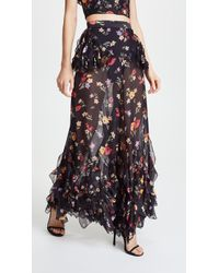 Rodarte - Floral Trousers With Lace Detail - Lyst