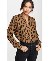 L'Agence Nina Long Sleeve Blouse - Multicolour