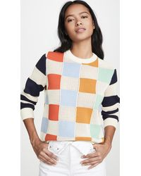 Tory Sport Chequered Pullover Jumper - Multicolour