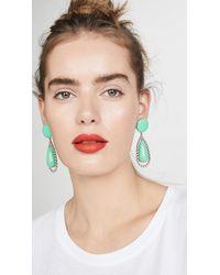 Lele Sadoughi Crystal Tear Drop Earrings - Green