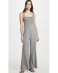 Chaser Smocked Jumpsuit - Gray