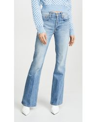 RE/DONE High Break Flare Jeans - Blue