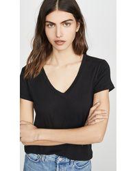 Sundry V Neck T-shirt - Black