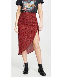 BB Dakota Ruched Awakening Skirt - Red