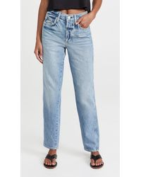 AMO Lilah High Rise Straight Jeans - Blue