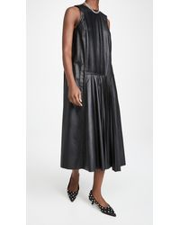 Tibi Faux Leather Dress - Black