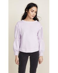 La Vie Rebecca Taylor - Long Sleeve French Terry Pullover - Lyst