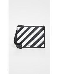 Off-White c/o Virgil Abloh Diagonal Stripe Zipped Pouch - Black