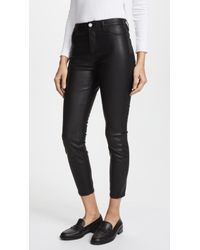 Blank NYC - The Principle Mid Rise Vegan Leather Skinny Pants - Lyst