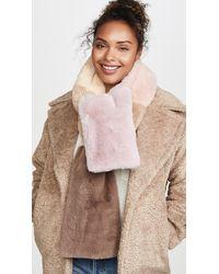 Jocelyn Faux Fur Wide Colorblock Scarf - Multicolour
