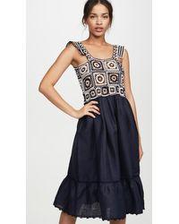 Carolina K Kuna Crochet Dress - Blue