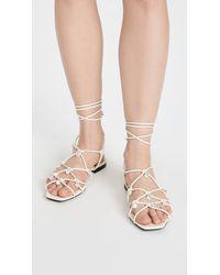 Altuzarra Lace Up Sandals - White