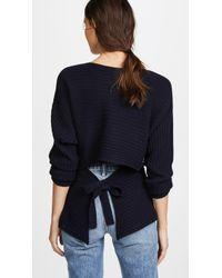 Vince - Tie Back Dolman Sweater - Lyst