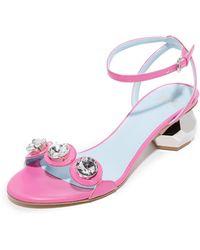 84ec3377a77ed On sale Frances Valentine - Beatrix Jewelled City Sandals - Lyst