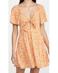 MINKPINK Sun Valley Mini Dress - Orange