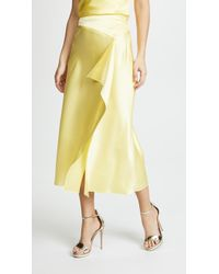 Cushnie et Ochs - Alma Charmeuse Pencil Skirt With Slit - Lyst