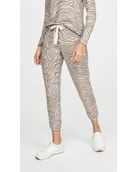 Chaser Cosy Knit Seamed Slouchy Joggers - Multicolour